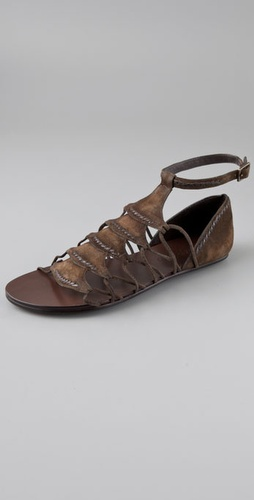 Elizabeth And James Stint Suede Sandals