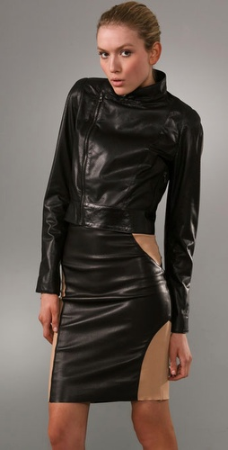 Elise Overland Perforated Leather Jacket