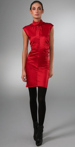 Elise Overland Mock Neck Dress