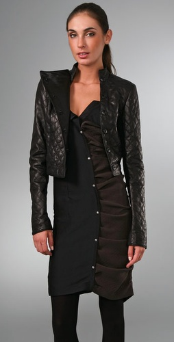 Elise Overland Quilted Leather Jacket