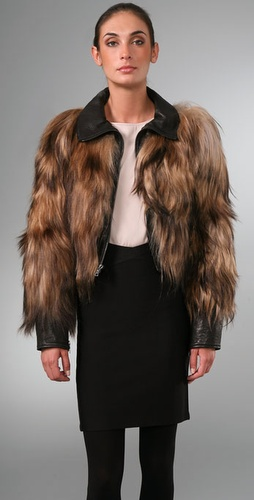 Elise Overland Goat Hair Cropped Jacket