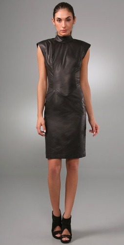 Elise Overland Leather Sleeveless Dress