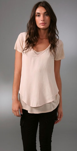 Ella Moss Mon Amour V Neck Top