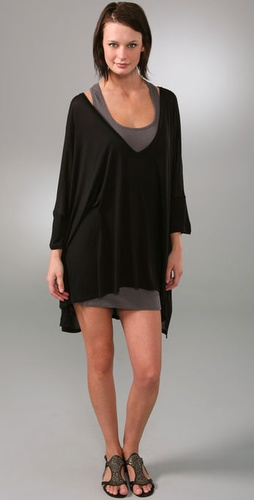 Enza Costa Oversized V Neck Dress