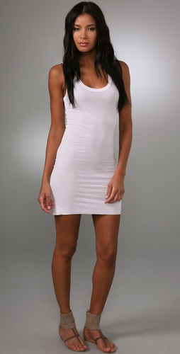 Enza Costa Rib Mini Tank Dress