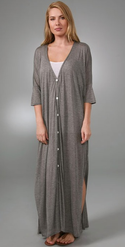 Enza Costa Oversized Button Long Dress