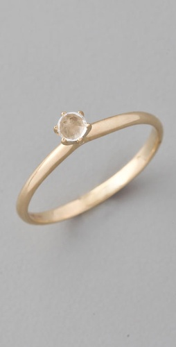 Anna Sheffield Tiny Rivet Quartz Ring