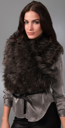 Foley   Corinna Faux Fur Wrap