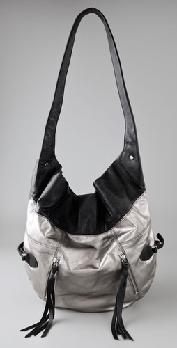 Foley   Corinna Metallic Moto Hobo