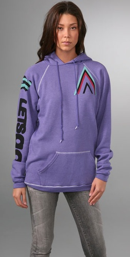 Freecity Striped Dove Tipi Raglan Hoodie