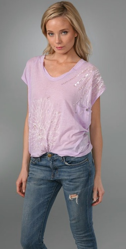 Free People Slouchy Sheer Pocket Tee