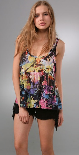 Free People Rave On Boxy Baby Doll Tank