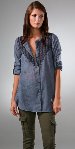 Free People Rise & Shine Button Down Shir