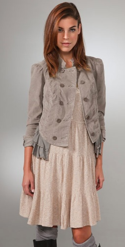 Free People Cord Victorian Riding Jacket