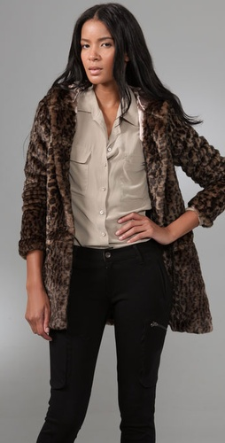 Free People About Town Faux Fur Coat
