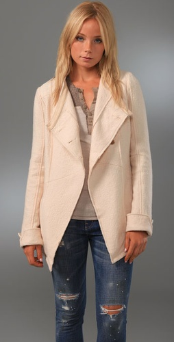 Free People Dropped Collar Jacket