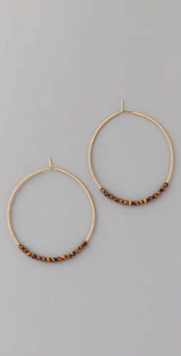 Gara Danielle Tiger's Eye Hoops