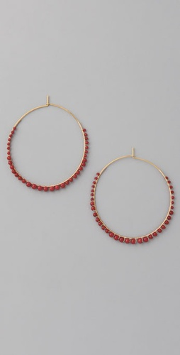 Gara Danielle Red Coral Hoops