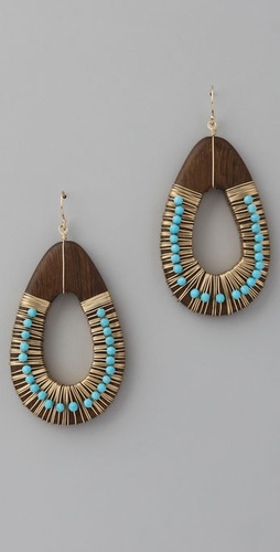 Gara Danielle Blue Turquoise Earrings