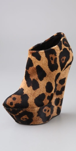 Giuseppe Zanotti Sculpted Platform Wedge Booties