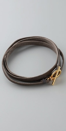 Gorjana Graham Leather Wrap Bracelet