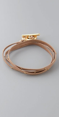 Gorjana Graham Leather Wrap Bracelet With