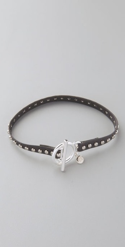 Gorjana Graham Leather Studded Bracelet