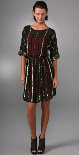 Gryphon The Sequin Stripe Mini Dress