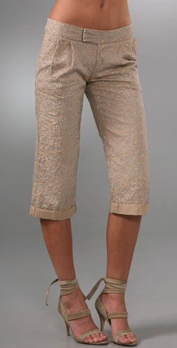 Gryphon The Beaded Cropped Pants