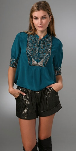 Gryphon Mercury Beaded Blouse