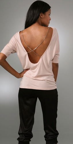 Haute Hippie Crisscross Top With Crystals