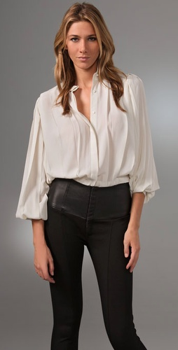 Haute Hippie Pleated Jouse Blouse