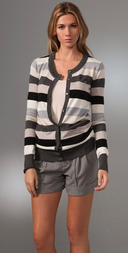 Haute Hippie Multi Stripe Cardigan