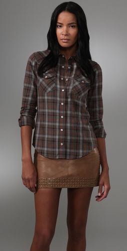 Haute Hippie Fitted Western Shirt