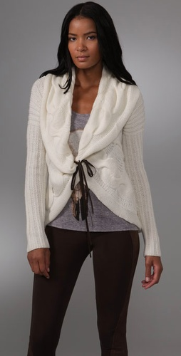 Haute Hippie Cable Cardigan