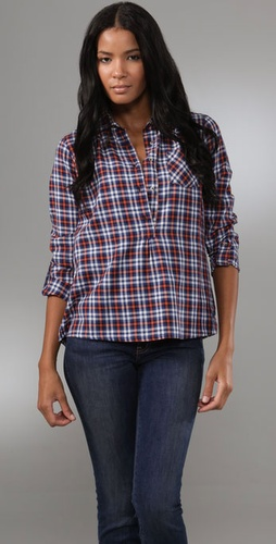 MiH Pull On Plaid Shirt