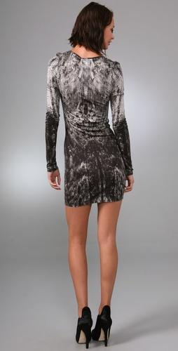 Helmut Lang Denim Heathen Print Jersey Dress