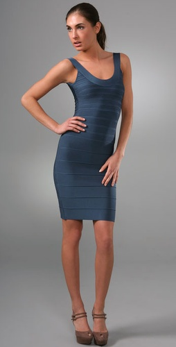 Herve Leger Signature Essentials Round Ne