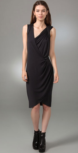 Helmut Lang Twist Shoulder Dress