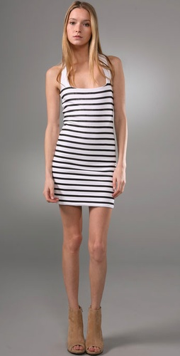 Monrow Stripe Racer Dress