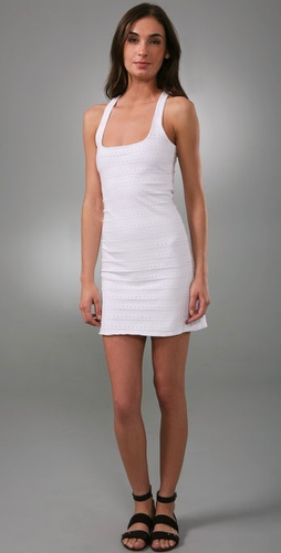 Monrow Eyelet Jersey Racer Dress