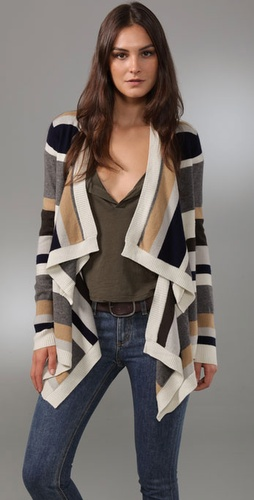 Jamison Holden Striped Open Cardigan
