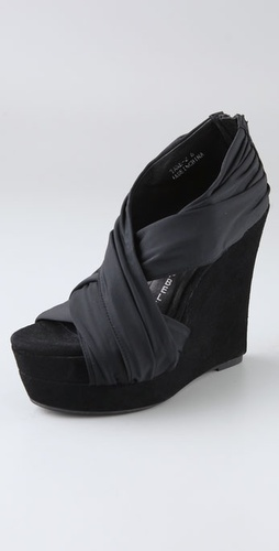 Jeffrey Campbell Take Draped Wedge Sandal