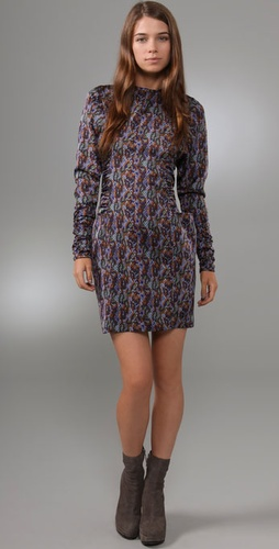 Jill Stuart Maryna Snakeskin Print Dress