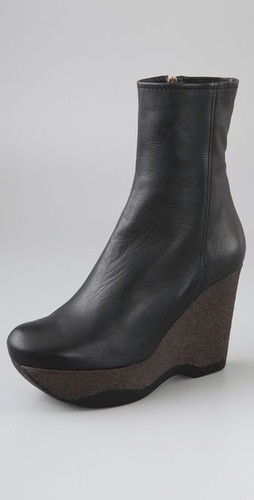 Jil Sander Platform Wedge Booties