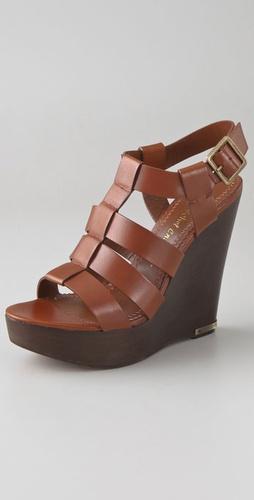 Jean-Michel Cazabat Walls Wooden Wedge Sandals