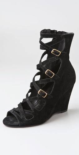 Joie Killer Queen Buckled Suede Booties - Shopbop from shopbop.com