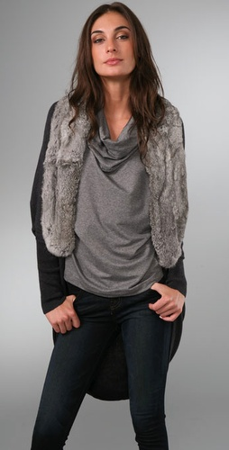 Joie Luxor Rabbit Knit Shrug