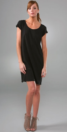 James Perse Taped V Neck Dress