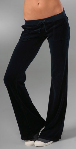 Juicy Couture Velour Snap Pocket Pant